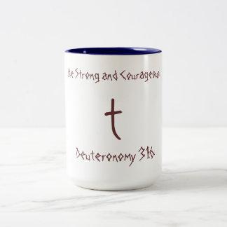 ¡Taza de cerámica con verso inspirado! Taza De Dos Tonos