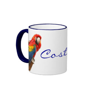 Taza de cerámica de Costa Rica del Macaw del