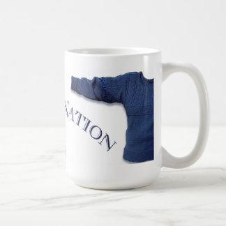 Taza de cerámica de la nación de Gansey
