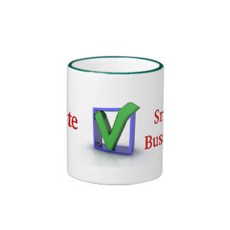 taza de cerámica de la pequeña empresa del iVote