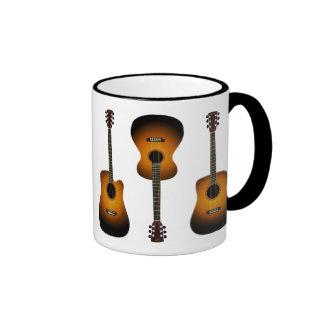 taza de cerámica de las guitarras acústicas