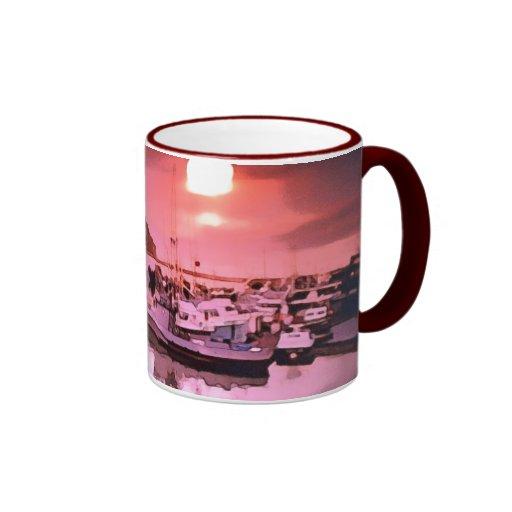 Taza de cerámica de las tonalidades del puerto
