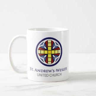 Taza de cerámica de St. Andrew's-Wesley