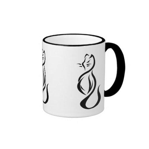 Taza de cerámica del campanero del gato negro