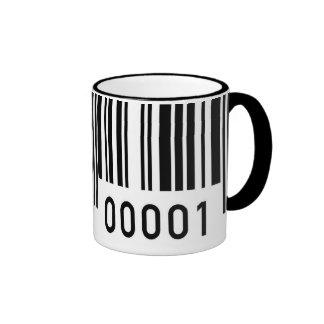 Taza de cerámica del código de barras negro