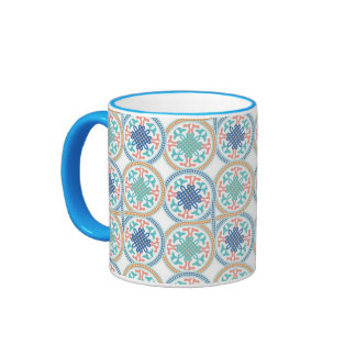 Taza de cerámica marroquí del campanero del diseño