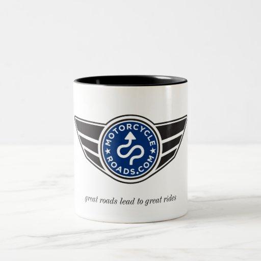Taza de cerámica media con el logotipo azul de MCR