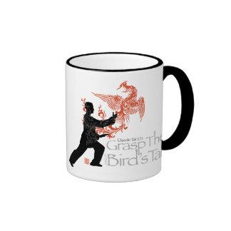 """Taza de cerámica Phoenix del fuego"""" de la ji de Ya"""