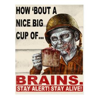 Taza de cerebros postales