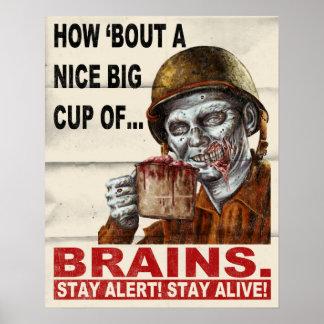 Taza de cerebros póster