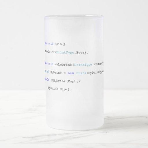 Taza de cerveza aguda de los programadores de C