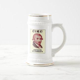 Taza de cerveza de Arturo Guinness
