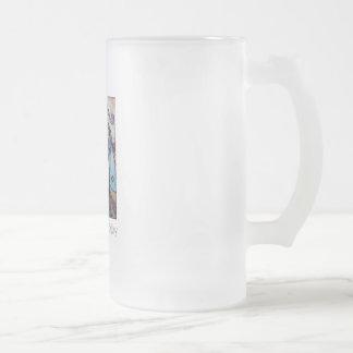 """Taza de cerveza de cristal de la """"brisa popular"""""""