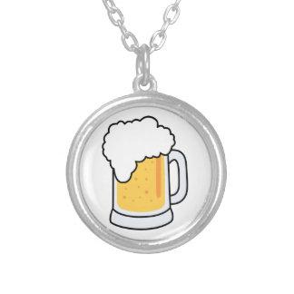 Taza de cerveza de cristal del dibujo animado colgante redondo
