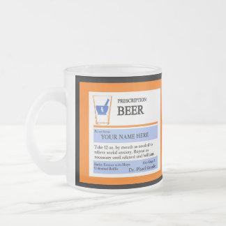 Taza de cerveza de encargo de la prescripción