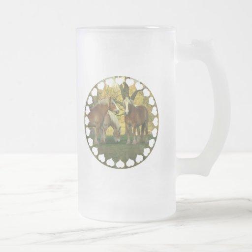 Taza de cerveza de Forsted de los caballos de proy