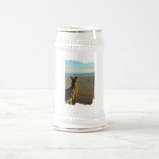 Taza de cerveza de la foto del canguro