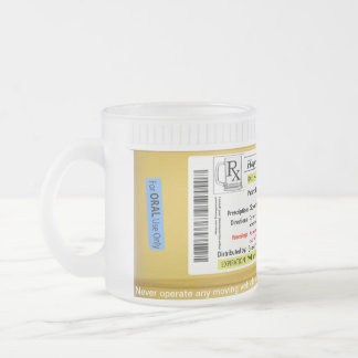 Taza de cerveza de la prescripción de RX Customize