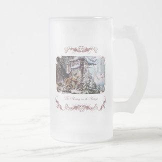 Taza de cerveza de los ciervos Stein helados caza