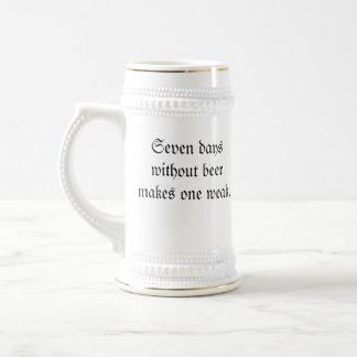 taza de cerveza de siete días