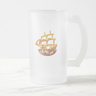 Taza de cerveza del barco de vela