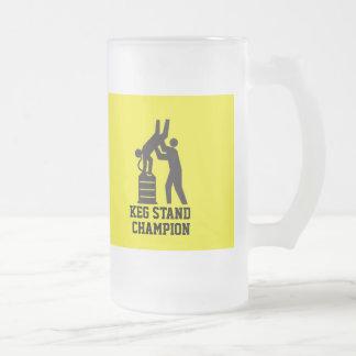 Taza de cerveza del campeón del soporte del