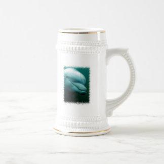 Taza de cerveza del delfín de Bottlenose