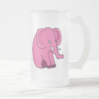 Taza de cerveza del elefante rosado DY