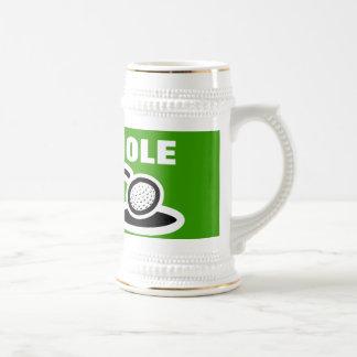 Taza de cerveza del golf con cita divertida