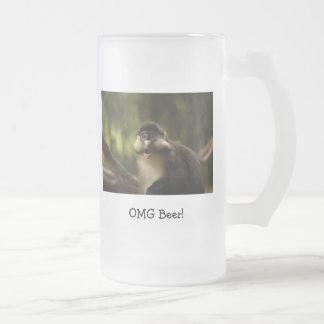 Taza de cerveza del mono de OMG