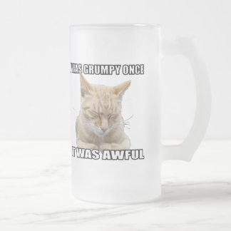 Taza de cerveza del vidrio esmerilado del gato del