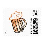 Taza de cerveza del vintage sello