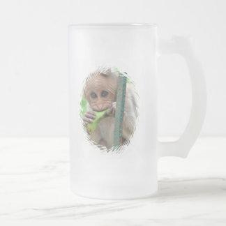 Taza de cerveza divertida de la imagen del mono