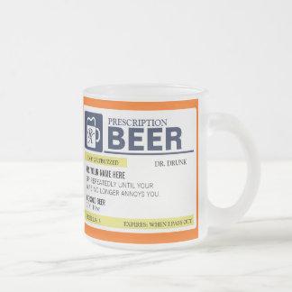 Taza de cerveza divertida de la prescripción