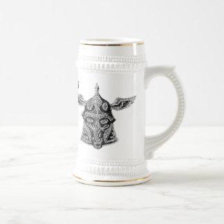 Taza de cerveza divertida de vikingo