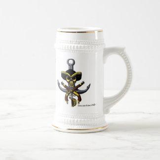 Taza de cerveza divertida del pirata cariñoso de l