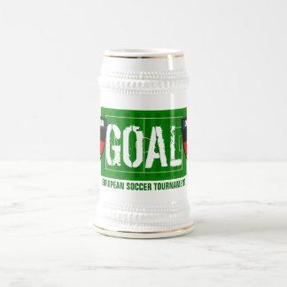 Taza de cerveza europea del fútbol de Deutschland