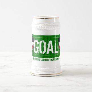 Taza de cerveza europea del torneo del fútbol de
