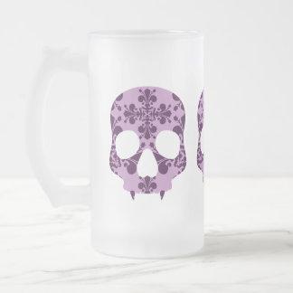 Taza de cerveza fanged damasco púrpura punky del c