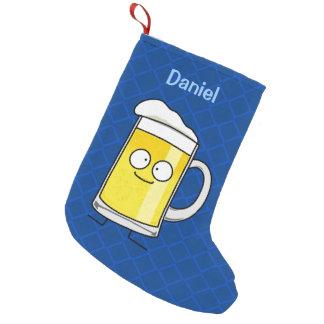 Taza de cerveza feliz bota navideña pequeña
