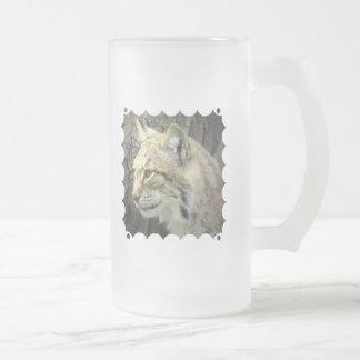 Taza de cerveza helada gato del lince