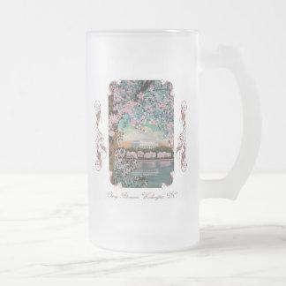 Taza de cerveza helada Victorian de las flores de