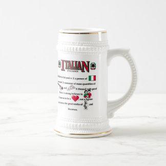 Taza de cerveza italiana