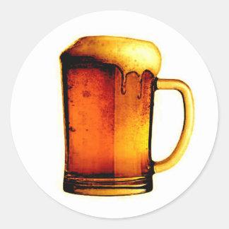 Taza de cerveza pegatinas