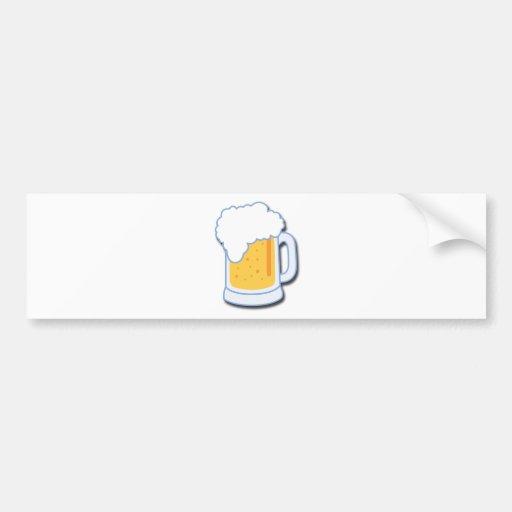 Taza de cerveza pegatina de parachoque