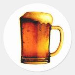 Taza de cerveza pegatinas redondas
