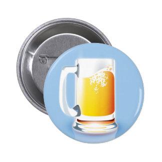 Taza de cerveza pin redondo 5 cm
