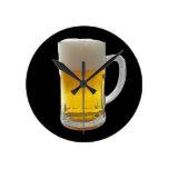 Taza de cerveza relojes de pared