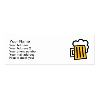 Taza de cerveza tarjetas de visita mini