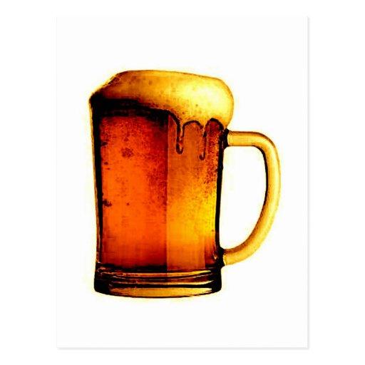 Taza de cerveza tarjetas postales